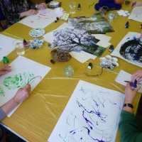 Two Mornings Drawing With The Lovely People At The Cameron Centre, Lockleaze, Bristol...