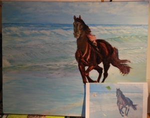 Deannas Horse, in progress