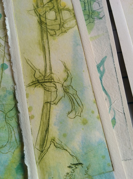Drypoint on perspex with inked paper