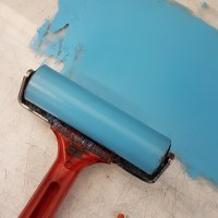 Non toxic Printmaking- Cleaning up oil based inks with vegetable oil.